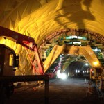 Bombeo de hormigón. Túneles Las Minillas. Tramo A-7 Taramay - Lobres
