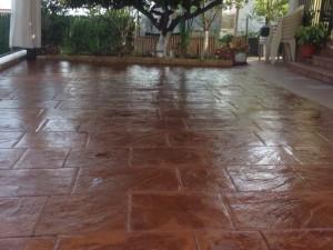 Pavimento de hormigón impreso - Modelo Piedra Inglesa